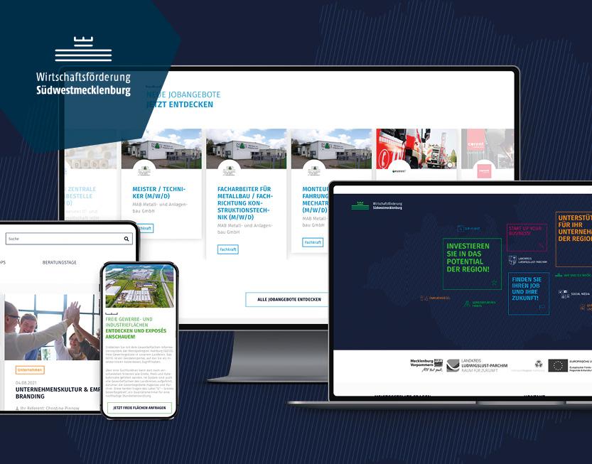 TYPO3 Website, Geschäftsbericht & Corporate Design